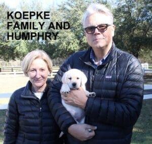 The Koepke family and Humphrey