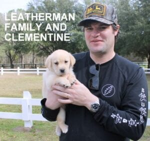The Leatherman family and Clementine