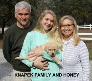 The Knapek family and Honey
