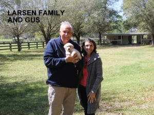The Larsen family and Gus