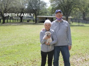 The Speth family and their puppy