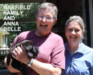 The Barfield family and Anna Belle