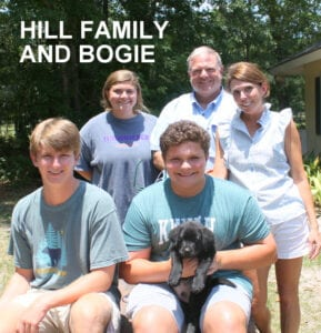 The Hill family and Bogie