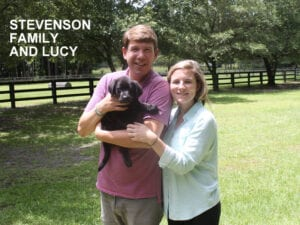 The Stevenson family and Lucy