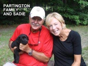 The Partington family and Sadie
