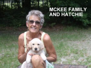 The Mckee family and Hatchie
