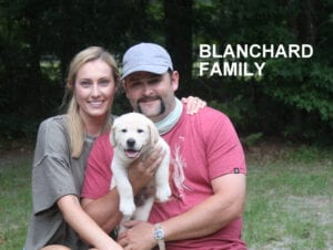 The Blanchard family and their pup