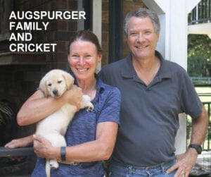 The Augspurger family and Cricket
