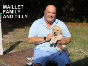 The Maillet family and Tilly
