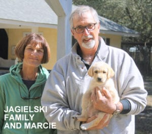 The Jagielski family and Marcie