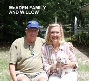 The McAden family and Willow