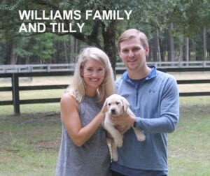 The Williams family and Tilly
