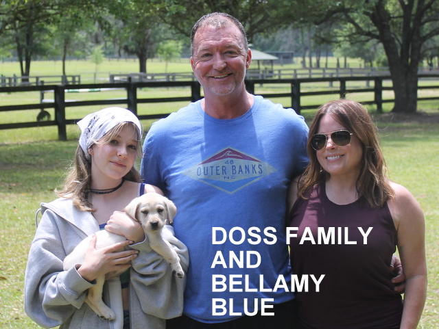 The Doss family and Bellamy Blue