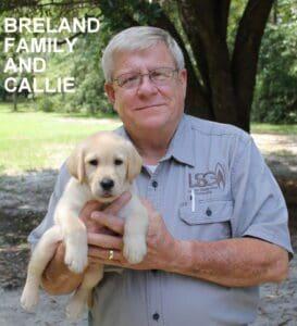 The Breland family and Callie