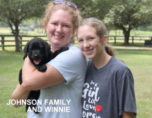 The Johnson family and Winnie