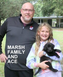The Marsh family and Ace