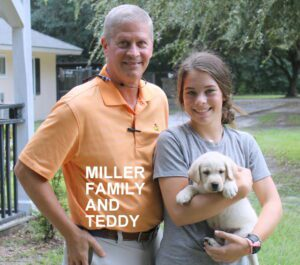 The Miller family and Teddy